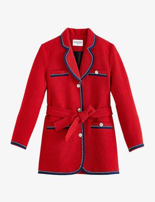 Claudie Pierlot Gamin contrast-trim tweed coat