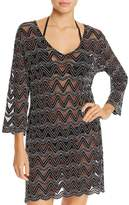 J Valdi Zigzag Tunic Swim Cover-Up