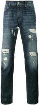 Dolce & Gabbana Dark Blue Wash distressed jeans - men - Cotton - 46