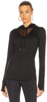 ALALA Flyweight Hoodie Tee in Black | FWRD