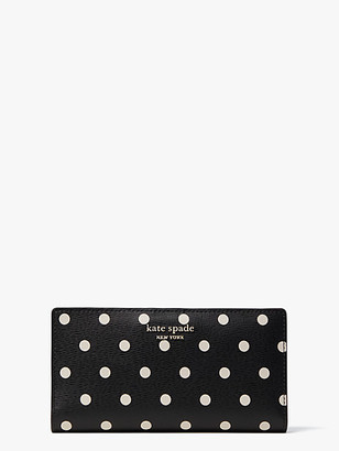 Kate Spade Spencer Cabana Dot Slim Bifold Wallet