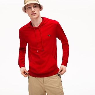 Lacoste Mens Hooded Cotton T-shirt