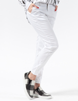 Publish White Hanna Stretch Twill Jogger Pants