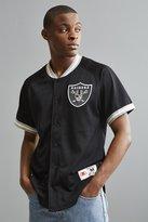 Mitchell & Ness NFL Oakland Raiders Pro Mesh Button Front Jersey