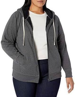 Amazon Essentials Plus Size Sherpa-lined Full-zip Hoodie Hooded Sweatshirt
