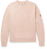 Cav Empt Appliquéd Loopback Cotton-Jersey Sweatshirt