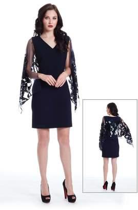 Alberto Makali Sequin Winged Dress