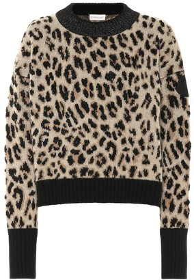 Moncler Leopard wool and cashmere sweater