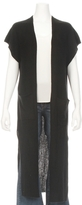 Autumn Cashmere Ribbed Maxi Open Front Vest