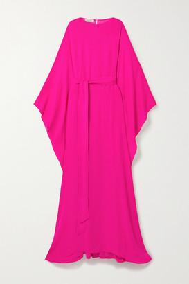 Oscar de la Renta Neon Silk-crepe Gown - Fuchsia