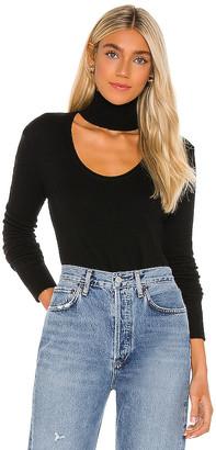 Pam & Gela Choker Cutout Neck Top