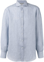 Brunello Cucinelli striped shirt - men - Cotton/Linen/Flax - XL