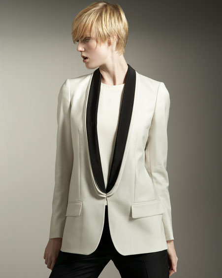 Stella McCartney Contrast-Lapel Tuxedo Jacket