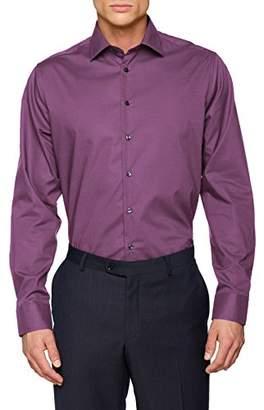 Seidensticker Men's Tailored Langarm mit Kent-Kragen Bügelfrei uni Business Shirt