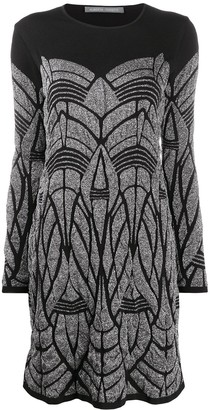 Alberta Ferretti Geometric Print Dress