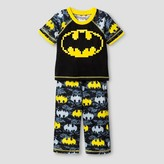 Batman Toddler Boys' Puff Print 2-Piece Sleepwear Set - Black