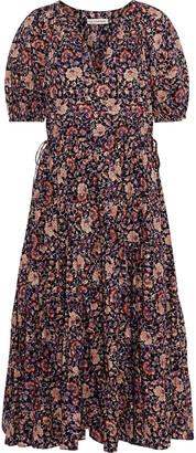 Ulla Johnson Claribel Gathered Floral-print Cotton-blend Midi Dress