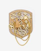 White House Black Market Leather Nautical Shield Pin