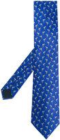 Lanvin flamingo print tie