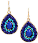INC International Concepts M. Haskell for Gold-Tone Colored Stone & Bead Drop Earrings, Only at Macy's