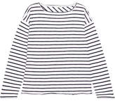 Rag & Bone Dakota Oversized Striped Cotton-blend Top - White