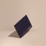 Burberry London Leather Card Case, Blue