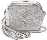 Saint Laurent Monogram Blogger crackled-leather cross-body bag