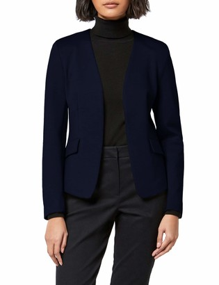 Meraki Amazon Brand Women's Collarless Stretch Jersey Comfort Blazer