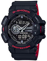 Casio Ga-400hr-1aer G-shock Day Date Resin Strap Watch, Black