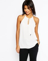 Asos High Neck Cami with Keyhole and Tie Front