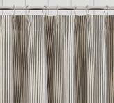 Pottery Barn Ticking Stripe Ruffle Shower Curtain