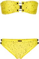 Proenza Schouler Splatter Print Barbell Bikini Set