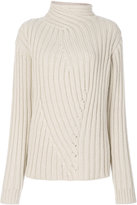 Jil Sander ribbed roll neck jumper