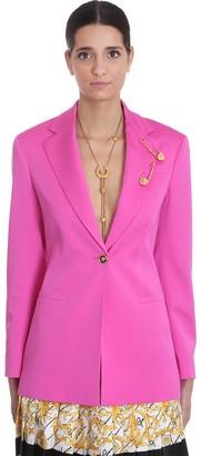 Versace Blazer In Rose-pink Silk