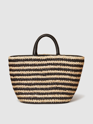 Cesta Collective Top Handle Raffia Tote / Stripe