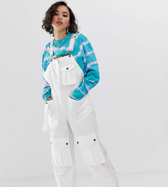 Collusion COLLUSION multi pocket utility dungaree