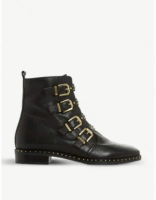 Dune Pixxel studded leather ankle boots