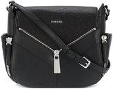 Diesel zip applique satchel - women - Calf Leather - One Size