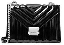 MICHAEL Michael Kors Women's Whitney Quilted Patent Leather Shoulder Bag