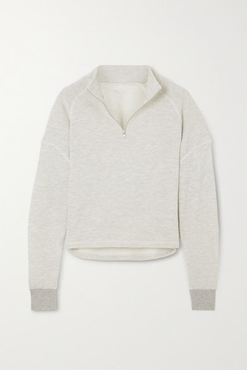 YEAR OF OURS Vail Cropped Stretch-jersey Sweatshirt - Gray