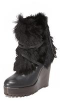Rachel Zoe Apres Fur Wedge Boots