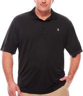 Izod Short Sleeve Grid Knit Polo Shirt Big and Tall