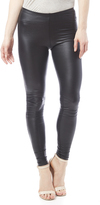 Cherish Faux Leather Black Leggings