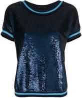 Twin-Set crew neck sequin T-shirt