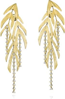 Hueb Bahia Diamond Frond Statement Earrings