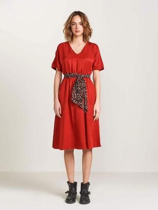 Bellerose Hoek Dress In Scarlet - 8