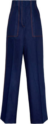 Boontheshop Collection Front And Back Pleat Cotton Cargo Pants