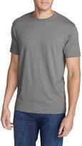 Eddie Bauer Men's Legend Wash Short-Sleeve T-Shirt - Slim Fit, Lt Htr Gray S Reg