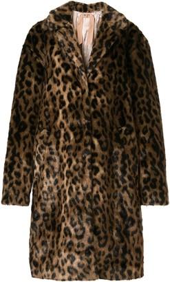 No.21 Oversized Leopard Print Coat