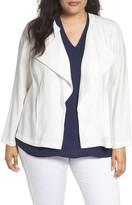 Sejour Plus Size Women's Drape Front Jacket